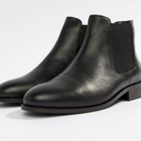 Femme park lane - bottines chelsea en cuir - noir