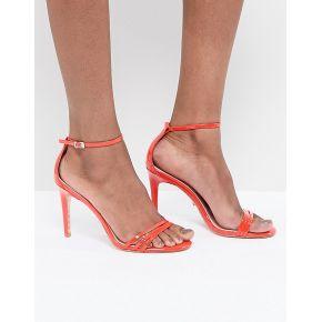 Femme dune - sandales à talons et lanières en...