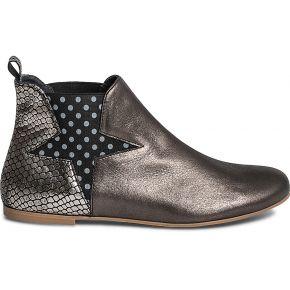 Chelsea boots ippon vintage x eram gris en cuir...
