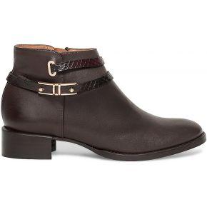 Boots bride cuir marron marron eram