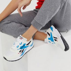 Femme reebok - bolton - baskets - blanc et bleu...
