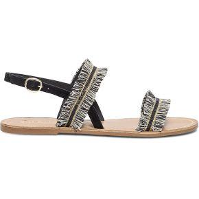 Sandale noire en cuir avec franges noir eram