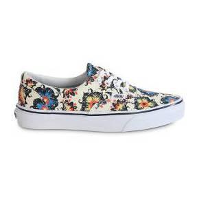 Skate era floral blanche femme vans