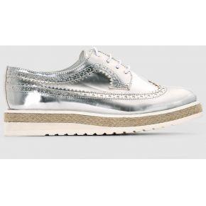 Derbies. soft grey silver