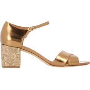 Sandales en cuir irisé