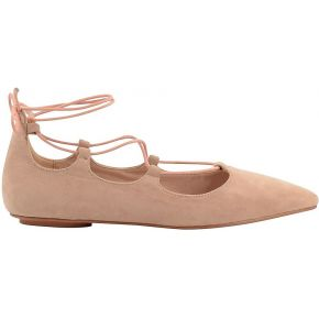 Ballerines à lacets nude. sacha rose clair