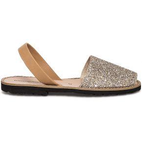 Sandale cuir pailleté or minorquines x eram