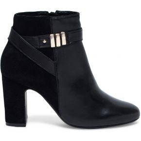 Boots noir à talon et détails dorés