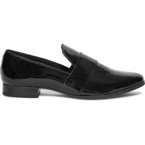 Slippers noir cuir verni
