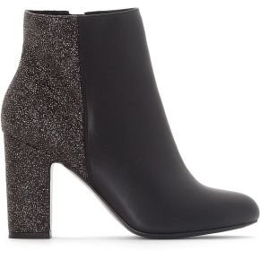 Boots bi-matière - feminin - noir - la redoute...