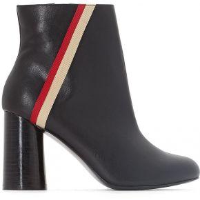 Boots détail bande talon flare - feminin - noir...