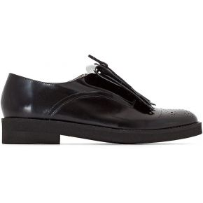 Derbies cuir patte mexicaine - feminin - noir -...