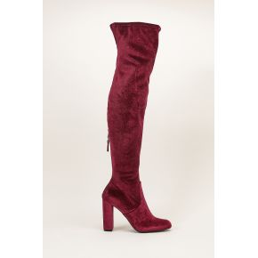 Cuissardes velours bordeaux emotionv overknee...