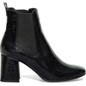 Chelsea boots talon flare verni noir