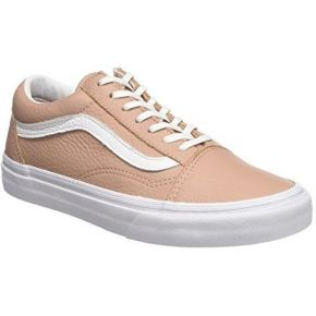 Vans old skool leather, baskets femme, rose...