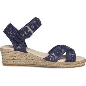 Sandale compensée crochet bleue bleu eram