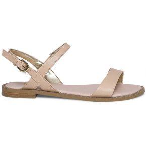 Sandale plate beige pailletée beige eram