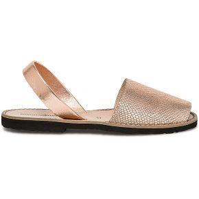 Sandale minorquines x eram cuivré en cuir rose...