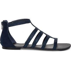 Sandale spartiate bleu marine à strass marine...