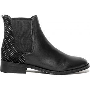 Chelsea boots noir à micro-pois argentés noir...
