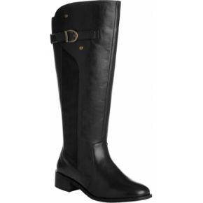 Blancheporte-femme noir bottes cavalières cuir...