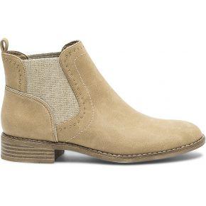Chelsea boots beige à clous camel eram