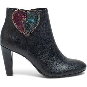 Boots noir à cœur métallisé noir eram