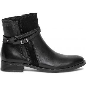 Boots caprice noir à brides noir caprice