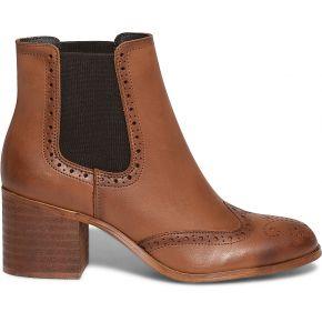 Chelsea boots noir en cuir à bout fleuri noir...