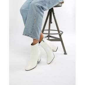Femme asos design - eve - bottines - blanc