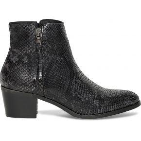 Boots cuir effet python noir gris eram