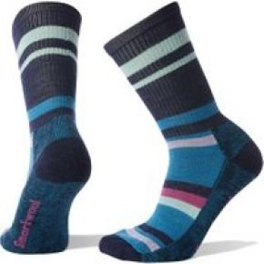 Smartwool hike striped light women's crew socks...