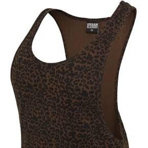 Débardeur ample leopard noir / marron (xs)