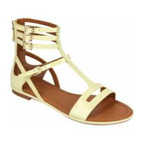 Spartiates vernies - sandales - femme - jaune -...