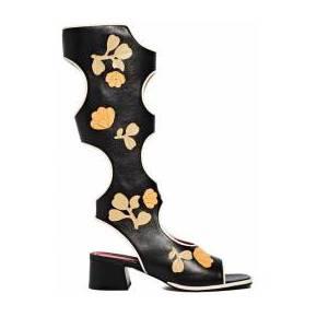 Marni bottes découpées avec fleurs