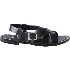 Sandales cuir. pieces black