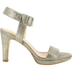Sandales en croûte de cuir laminée daura -...