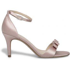 Sandale talon noeud rose