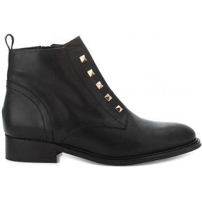 Boots cuir neyo - feminin - noir - cosmoparis