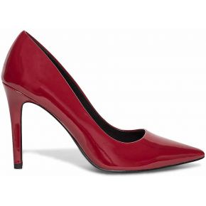 Escarpin verni rouge