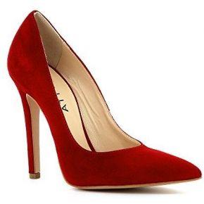 Lisa escarpins femme daim rouge 37