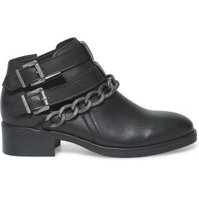 Boots plat cut out noir chaine