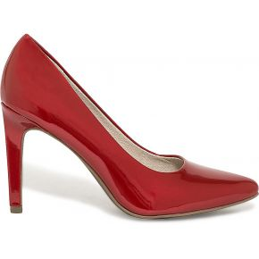 Escarpin rouge verni marco tozzi