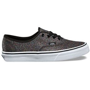 Vans authentic, baskets femme, noir (glitter),...