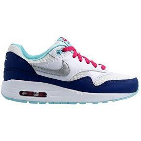 Nike air max 1 (gs) schuhe white-metallic...