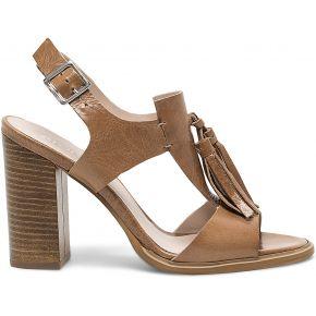 Sandale beige en cuir à pompons-taupe-36, 37,...