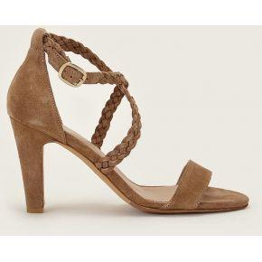 Sandales en cuir l'exaltante camel -...