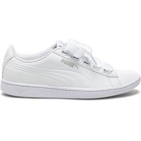 Tennis puma blanche vernie à ruban-blanc-36,...
