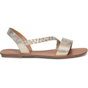 Sandale dorée à bride tressée-or-36, 37, 38,...