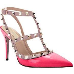 Oasap femme chaussure a talons hauts rivet...